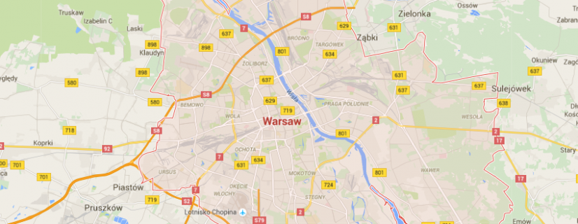 map of warsaw museums