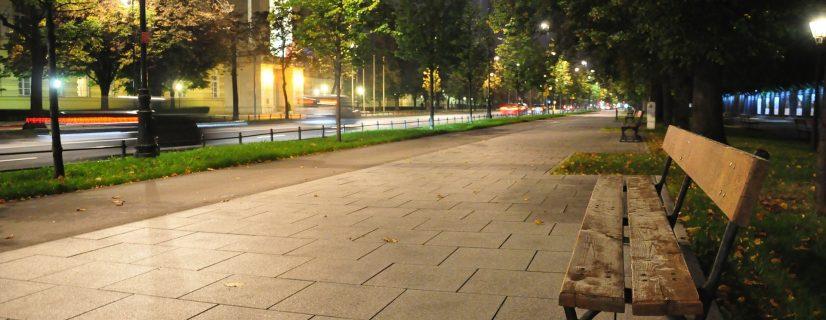 warsaw in night
