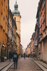 Pedestrian in Warsaw